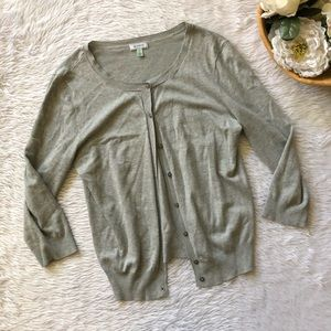 Austin's Grey Knit Cardigan